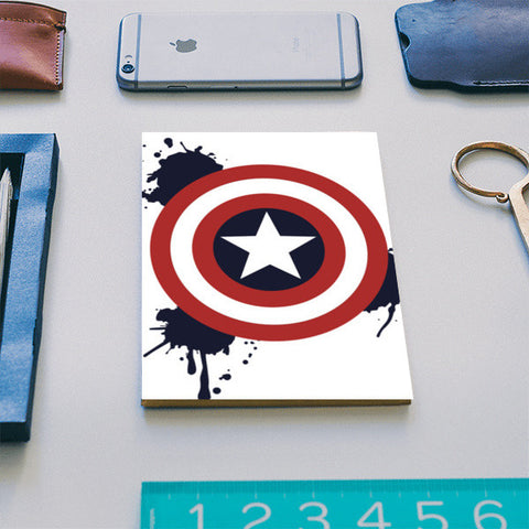 Paint Splatter Captain America Notebook | Artist : designoholic0211