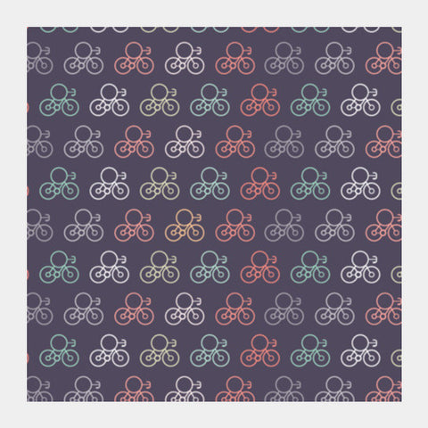 Retro Bicycles Square Art Prints PosterGully Specials
