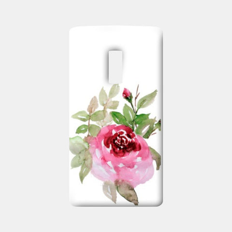 One Plus Two Cases, Painted Watercolor Pink Rose Flower  One Plus Two Cases | Artist : Seema Hooda, - PosterGully