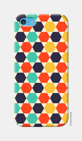 Multi colored repetition shape background iPhone 5c Cases | Artist : Designerchennai