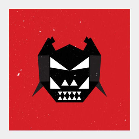 Killer Mask With Red Square Art Prints PosterGully Specials