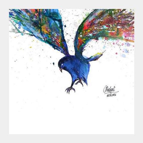 Blemish  Bird  Artwork Square Art Prints PosterGully Specials