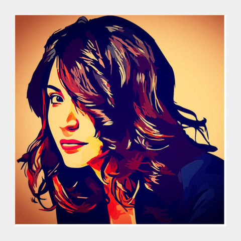 Anushka Sharma Square Art Prints | Artist : Delusion