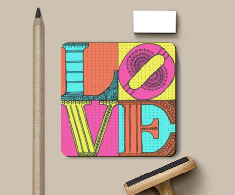 Coasters, Pop Love Coasters | Artist : Suchita Pande, - PosterGully