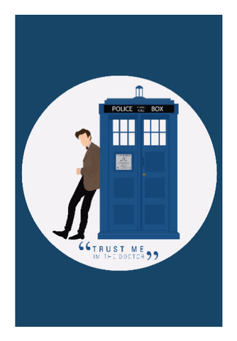 Wall Art, The Doctor and TARDIS Wall Art | Artist: Mohak Gulati, - PosterGully