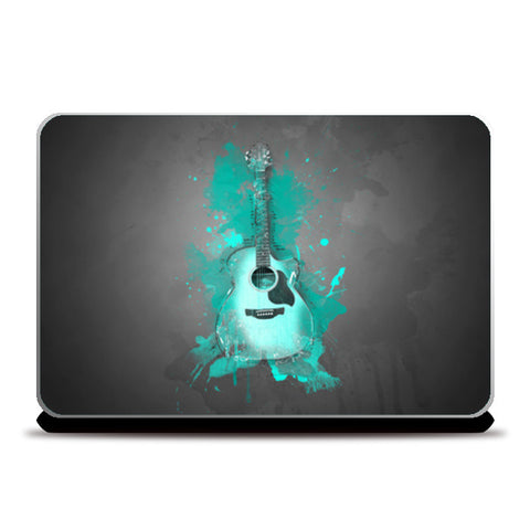 Guitar Splash – Aqua Laptop Skins | Artist : Darshan Gajara's Artwork