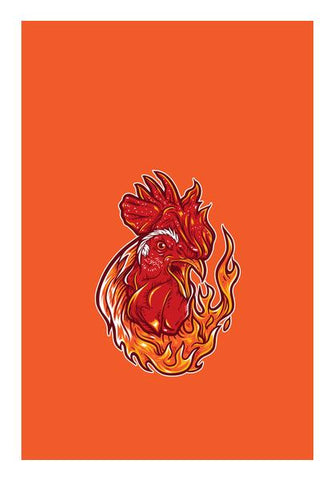 Rooster On Fire Wall Art PosterGully Specials