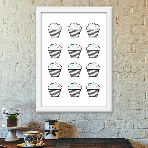 Hey there cupcake! Premium Italian Wooden Frames | Artist : mytablecreations