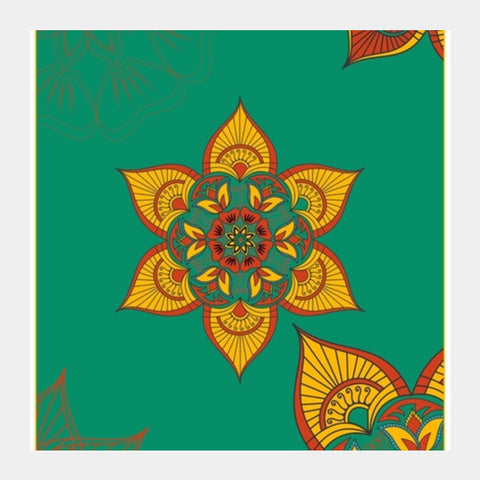Indian Traditional Square Art Prints | Artist : Tiny Dots