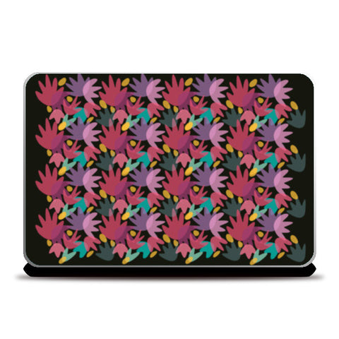 PINK FLORAL COVER Laptop Skins | Artist : looshmoosh