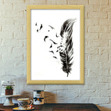 Feathers to Freedom Premium Italian Wooden Frames | Artist : thedreamerkid_