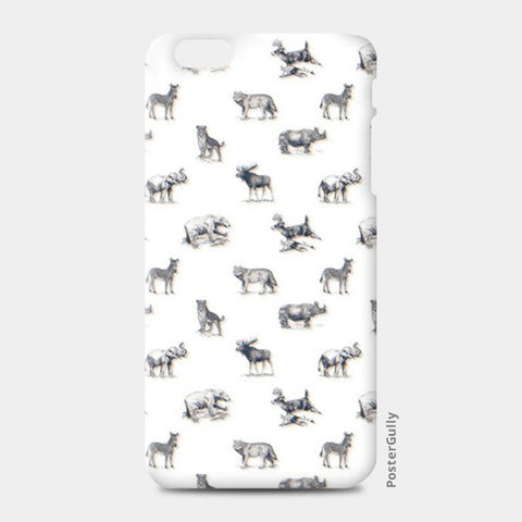 Safari Animal iPhone 6 Plus/6S Plus Cases | Artist : Dinesh kumar