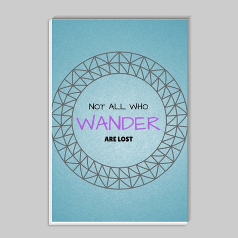Not all who wander are lost Stick Ons | Artist : Pallavi Rawal