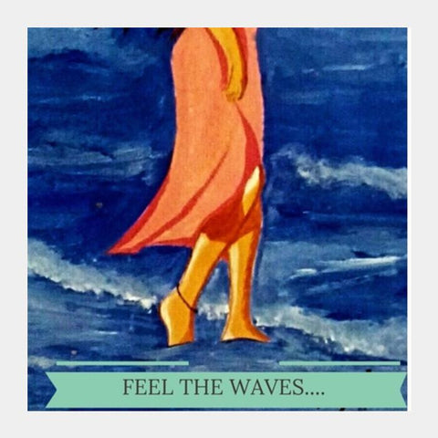 Feel The Waves Square Art Prints PosterGully Specials
