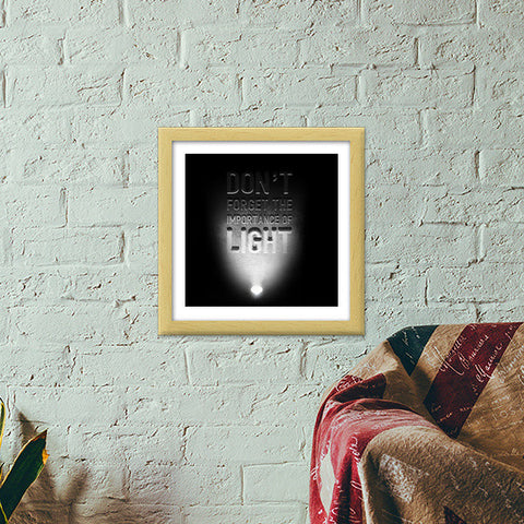 Importance of light Premium Square Italian Wooden Frames | Artist : Abhishek Faujdar