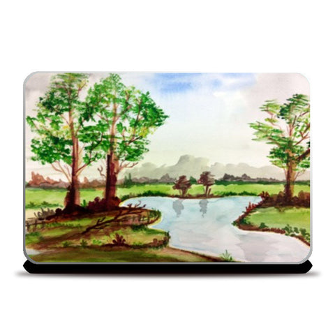 Laptop Skins, Nature Landscape Art  Laptop Skins | Artist : Seema Hooda, - PosterGully