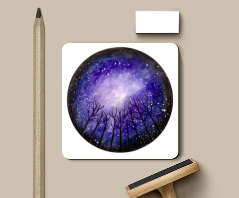 PosterGully Coasters, Fall Night Coasters | Artist : Akshita Shah, - PosterGully