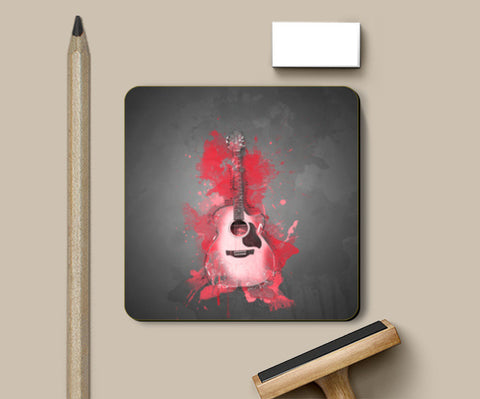 Guitar Splash – Red Coasters | Artist : Darshan Gajara's Artwork