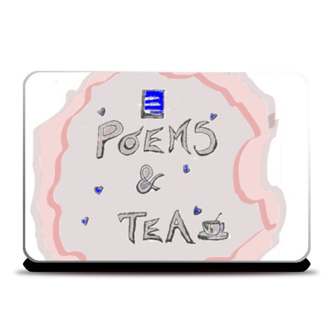 poems and tea Laptop Skins | Artist : the scribble stories