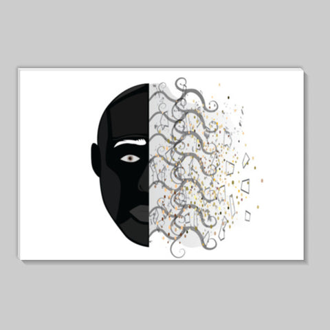 Abstract face stick on Stick Ons | Artist : vazir singh