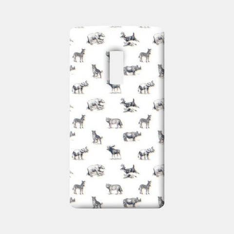 Safari Animal One Plus Two Cases | Artist : Dinesh kumar