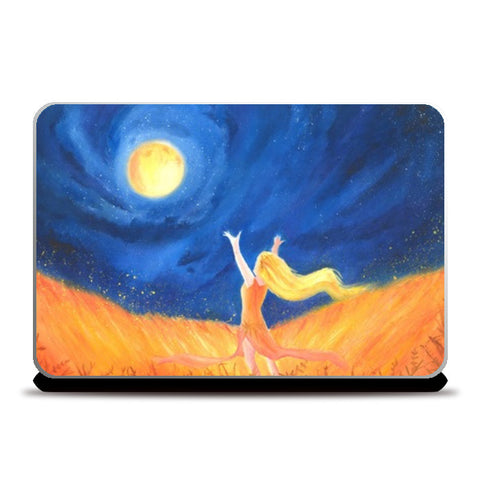 The moon Wanderer Laptop Skins | Artist : Simranjit Singh
