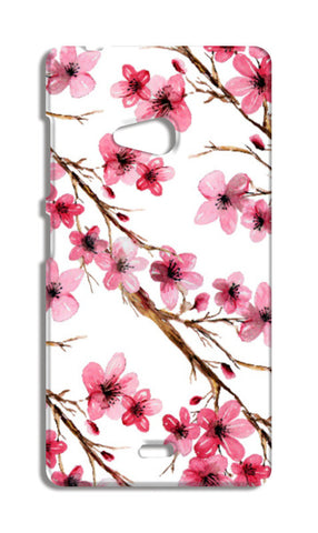 Beautiful Pink Spring Cherry Blossoms Floral Pattern Nokia Lumia 540 Cases | Artist : Seema Hooda
