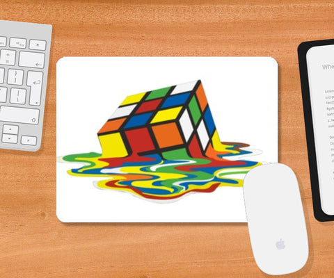 Mousepad, Melted rubic cube Mousepad | Artist : Randolph Matthias, - PosterGully