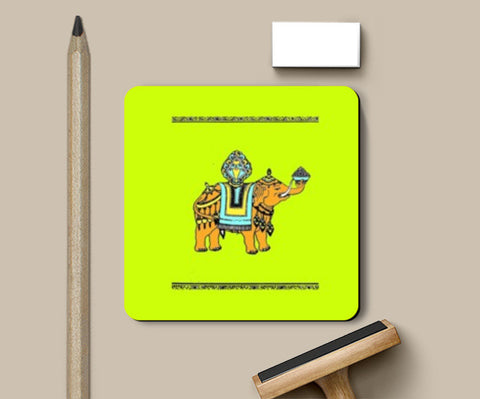 Coasters, Tribal Elephant Coasters | Artist : Dr. Green, - PosterGully