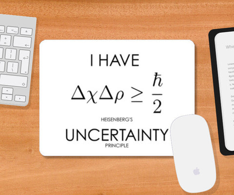 Uncertainty Principle Mousepad | Artist : Nikita Chhajer