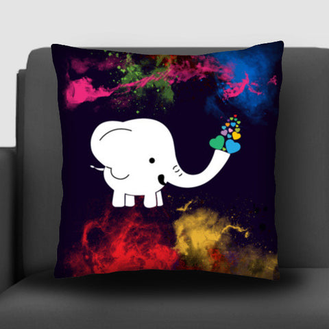 White baby elephant Cushion Covers | Artist : Designerchennai