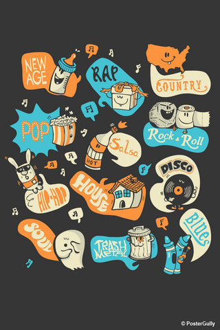 Wall Art, Seeing Music Everywhere | By Captain Kyso, - PosterGully - 1