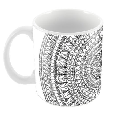 Filigree Mandala Coffee Mugs | Artist : Suchita Pande