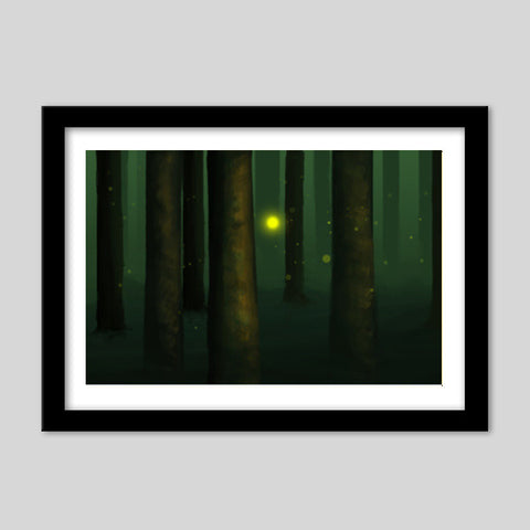 That strange bright light. Premium Italian Wooden Frames | Artist : devika art