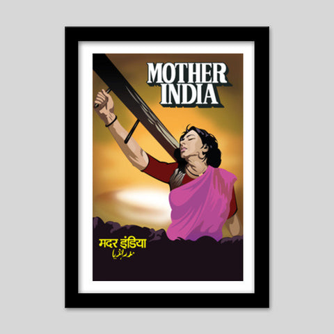 Mother India Vector Art Premium Italian Wooden Frames | Artist : Neha Karnik
