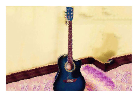 Wall Art, Abstract Acoustic Guitar Wall Art  | Artist : Champa Guchait, - PosterGully