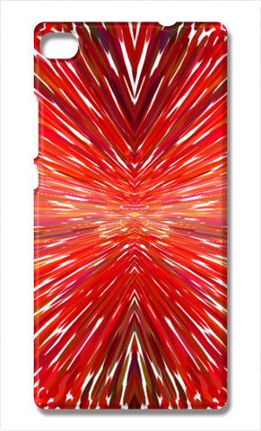 Abstract Red Burst Modern Design Huawei P8 Cases | Artist : Seema Hooda