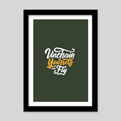 Unchain Yourself And Fly Premium Italian Wooden Frames | Artist : Inderpreet Singh