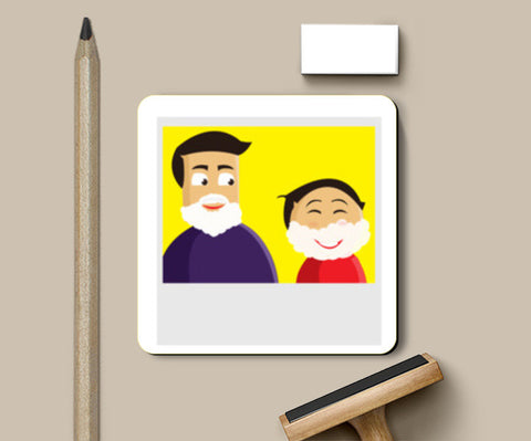 Fun Dad Coasters | Artist : Monami Debnath