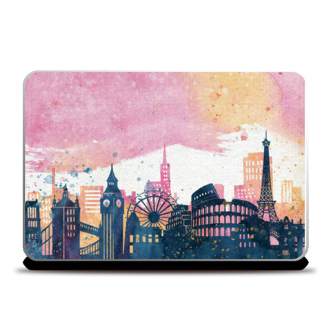 wonders of the world cityscapes Laptop Skins | Artist : Creative DJ