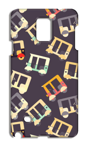 Auto rickshaw quirky pattern Samsung Galaxy Note 4 Cases | Artist : Designerchennai