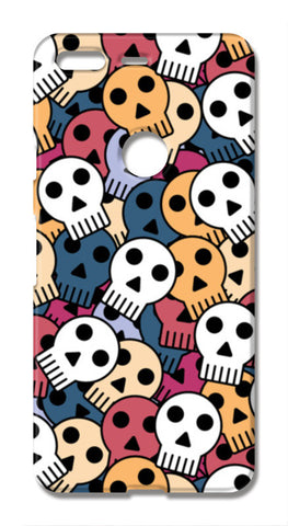 seamless halloween skull Google Pixel XL Cases | Artist : Designerchennai