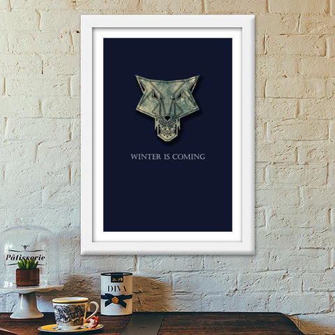 winter is coming Premium Italian Wooden Frames | Artist : Nazria Banu