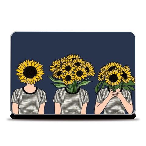 Sunflower Humans Laptop Skins | Artist : Priyanka Paul