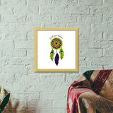 Dream Catcher  Premium Square Italian Wooden Frames | Artist : Stuti Bajaj