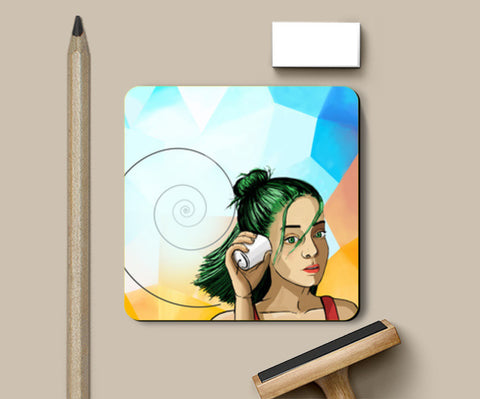 The sounds from the other side. Coasters | Artist : devika art