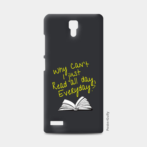 Why Can't I Just Read All Day? Redmi Note Cases | Artist : Kaushal Faujdar