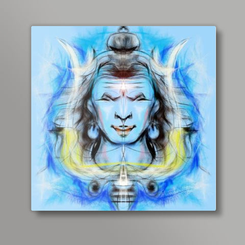 shiva Square Metal Prints | Artist : Pradeesh K