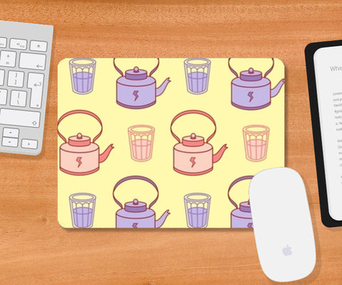 Abstract Teapot & tea cup  Mousepad | Artist : Nishit Shah