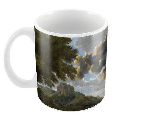 Blind Orion Searching for the Rising Sun by Nicolas Poussin Coffee Mugs | Artist : Aditya Gupta